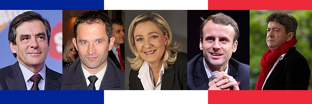 France 2017 main presidential candidates