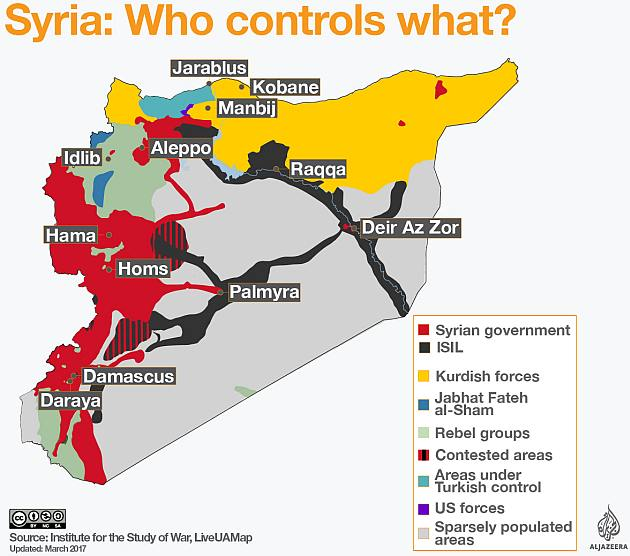 Syria divided: Who controls what